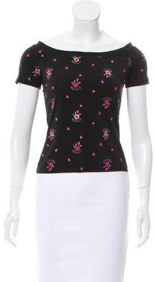 Emilio Pucci Embroidered Short Sleeve Top