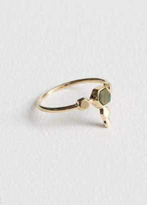 Hexagon Charm Ring