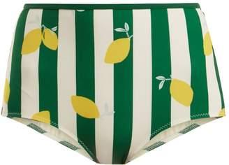 Solid & Striped The Brigitte lemon-print bikini briefs
