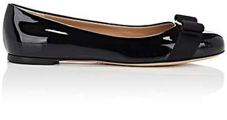 Salvatore Ferragamo Women's Varina Patent Leather Flats - Black