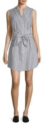 Frame Knot Stripe Shirt Dress
