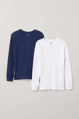 H&M 2-pack Ribbed T-shirts - White