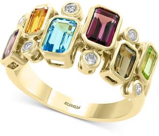 Effy Multi-Gemstone (2-3/8 ct.t.w.) & Diamond (1/6 ct. t.w.) Ring in 14k Gold