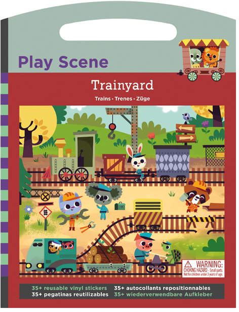 Trainyard Play Scene Sticker Set