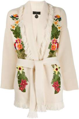 Alanui embroidered floral cardigan