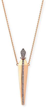 Diane Kordas 18K Rose Gold & Diamond Perfume Amulet Pendant Necklace