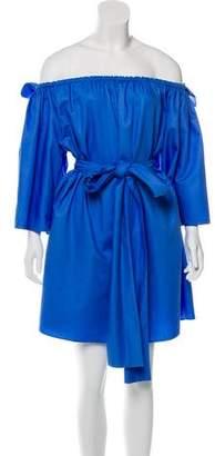 Stella McCartney Belted Off-The-Shoulder Dress