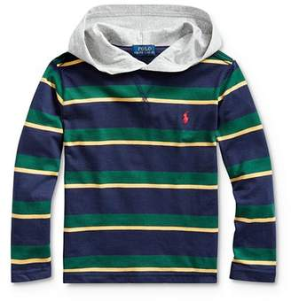 Ralph Lauren Boys' Striped Hooded Tee - Little Kid