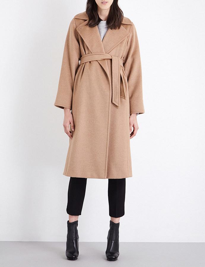 Max MaraMax Mara Manuela camel-hair wrap coat