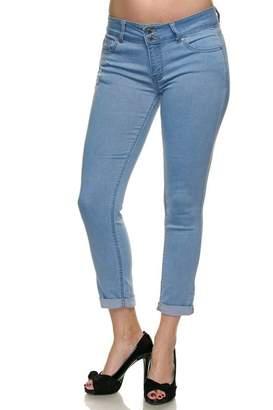 wax jean Cotton Blend Cuffed Denim Capris Jeans