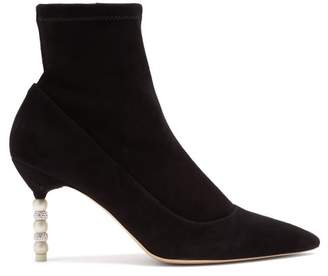 Sophia Webster Coco Suede Ankle Boots - Womens - Black