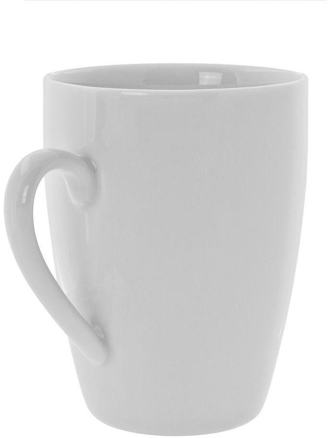 10 Strawberry Street Royal White 6-pc. Barrel Mug Set