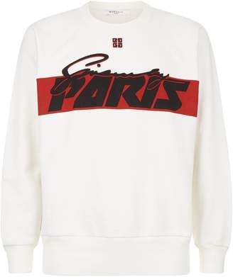Givenchy Paris Print Sweatshirt
