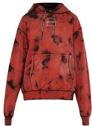 4b262b4c9 United Standard - Acid Wash Effect Logo Print Hooded Sweatshirt - Mens - Black  Red