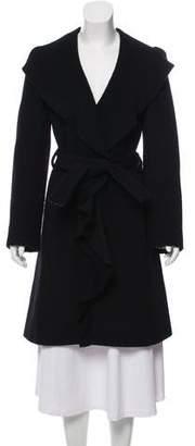 Just Cavalli Wool-Blend Knee-Length Coat