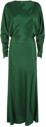Victoria Beckham Open Back Drape Sleeve Dress