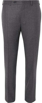 Canali Grey Slim-fit Puppytooth Super 120s Wool Suit Trousers