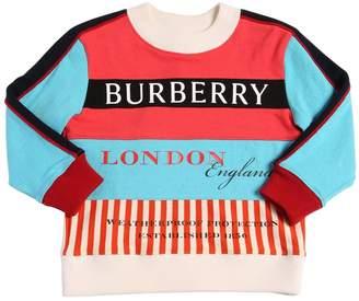 Burberry Patchwork Cotton Sweatshirt