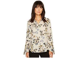 Vince Camuto Flared Sleeve Timeless Bouquet Button Down Blouse Women's Blouse
