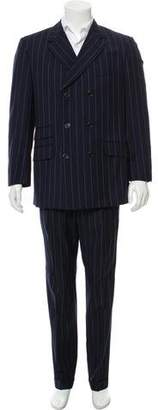 Gianni Versace Wool Double-Breasted Two-Piece Suit