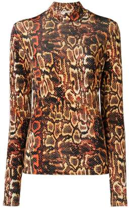 Faith Connexion snake print high neck sweater