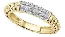 Lagos Caviar 18K Gold & Diamond Pave Stacking Ring