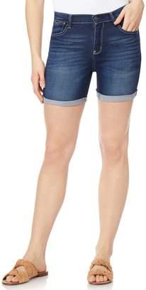 Wallflower Juniors' WallFlower Irresistible High-Rise Midi Jean Shorts