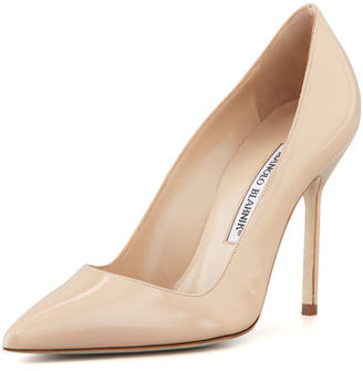 Manolo Blahnik BB Patent 105mm Pump $595 thestylecure.com