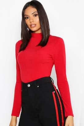 boohoo Tall Turtle Neck Rib Knit Jumper