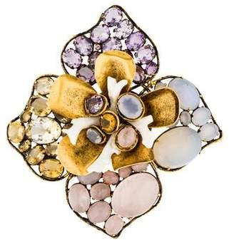 Iradj Moini Multistone Floral Brooch
