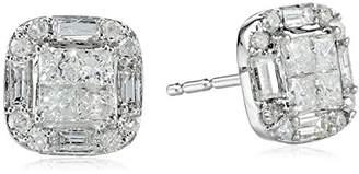 10k Gold Cushion-Shape Diamond Stud Earrings (1/2 cttw)