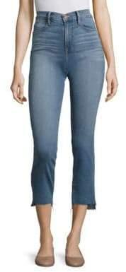 Frame Le High Straight-Leg Step Hem Jeans