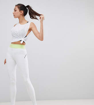 Asos 4505 4505 Tall training legging with bonded waistband and laser cut technology