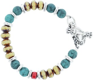 King Baby Studio American Voices Ceramic & Glass Bead Bracelet