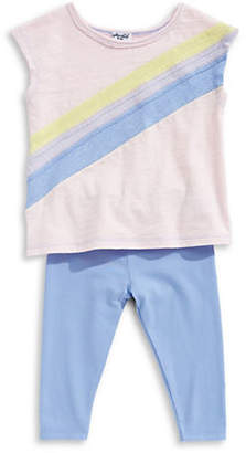 Splendid Two-Piece Rainbow Top and Pants Set