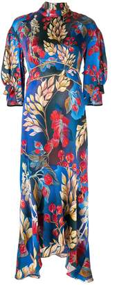 Peter Pilotto fitted floral print midi dress