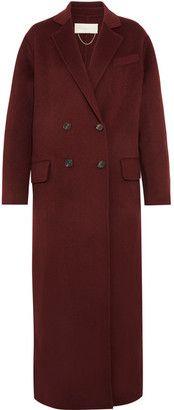Vanessa Bruno - Frisbane Double-breasted Wool And Cashmere-blend Coat - Burgundy