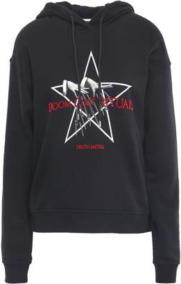 McQ Flocked French Cotton-terry Hoodie