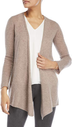 Ply Cashmere Petite Cashmere Open Long Sleeve Cardigan