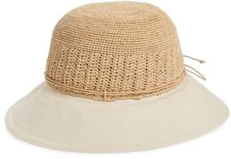 Helen Kaminski Cotton Brim Raffia Hat
