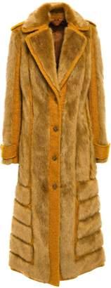Acne Studios Braid-trimmed Faux Fur And Boucle Coat