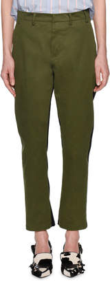 No.21 No. 21 Salvia Straight-Leg Ankle Pants with Stripes