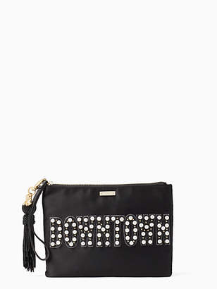 Kate Spade On purpose downtown embellished gia clutch