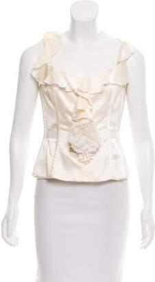 Charles Chang-Lima Sleeveless Silk Top