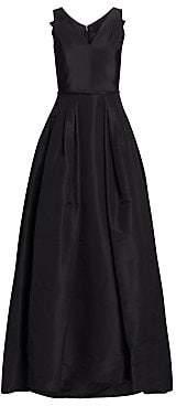 Carolina Herrera Women's Flared Silk Gown