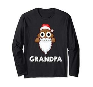 Grandpa Poop Emojis Santa Claus Long Sleeve shirt Pajamas