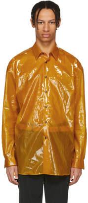 Jil Sander Yellow Plastic Coating Pista Shirt
