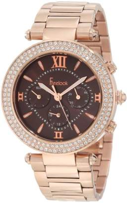 Freelook Women's HA1539-RG2 Brown Chronograph Dial With Rose Gold Swarovski Bezel Watch