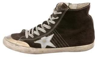 Golden Goose Francy Superstar Distressed Sneakers