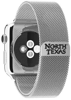 Affinity Bands North Texas Mean Green Eagles Stainless Steel Band for Apple Watch - 38mm